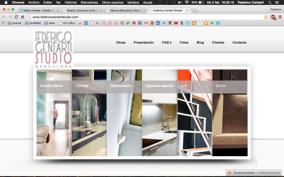 Arquitectura y reformas integrales desde 2008 en barcelona federico centarti studio dise a - Disena studio ...